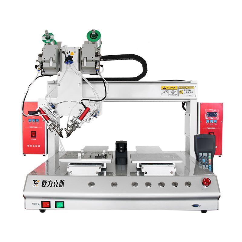 zhuo面式四轴斜插式自动焊锡机器人