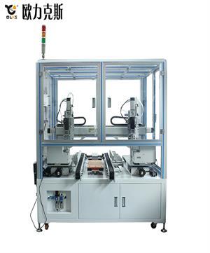 在线式shizhou联动双工位自动锁luo丝机
